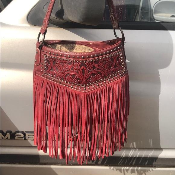 Montana West Handbags - Montana West Conceal Carey Fringe Purse